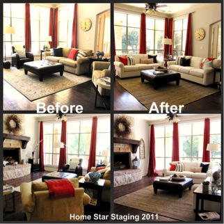 ... project the home seller's furniture was moved from one area of the home  to another to create a more appealing family room. The eyes of a home stager  see ...